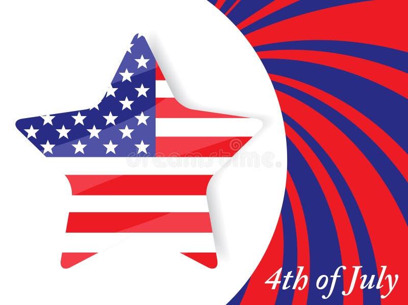 ô do Dia da Independência de julho ilustração do vetor