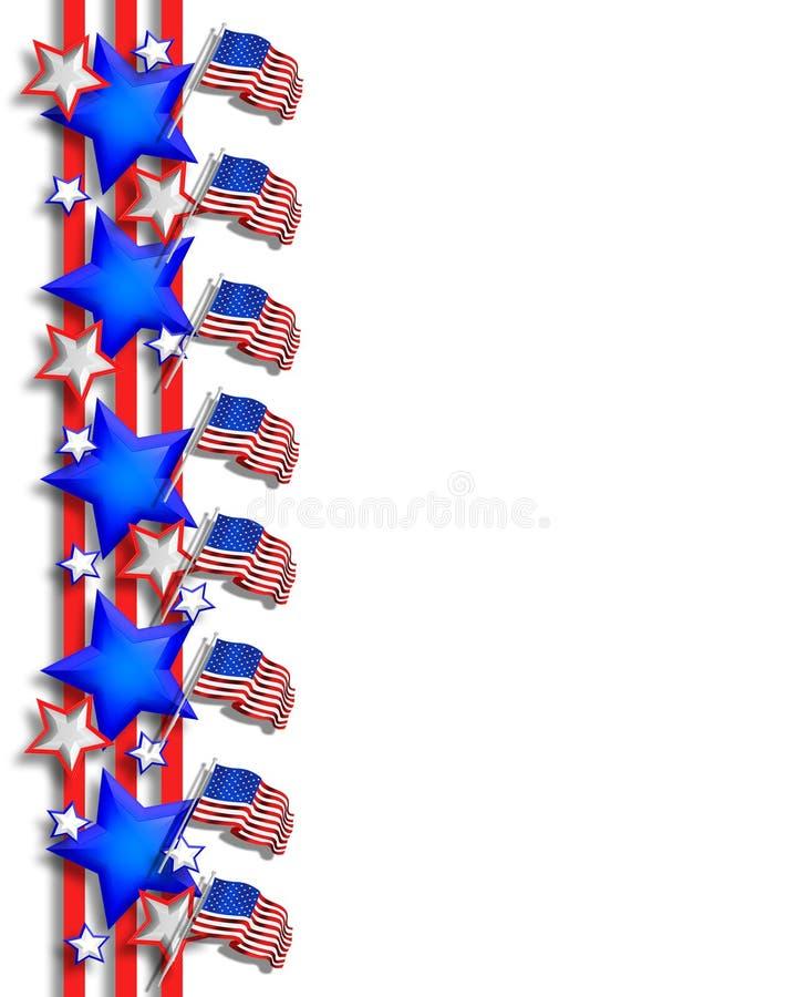 ô do fundo patriótico de julho ilustração stock