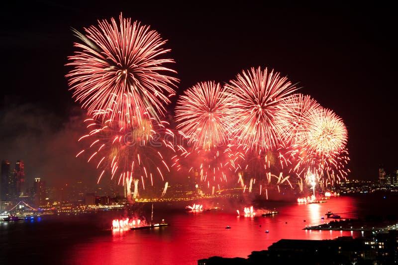 ô do indicador dos fogos-de-artifício de julho Macys foto de stock royalty free
