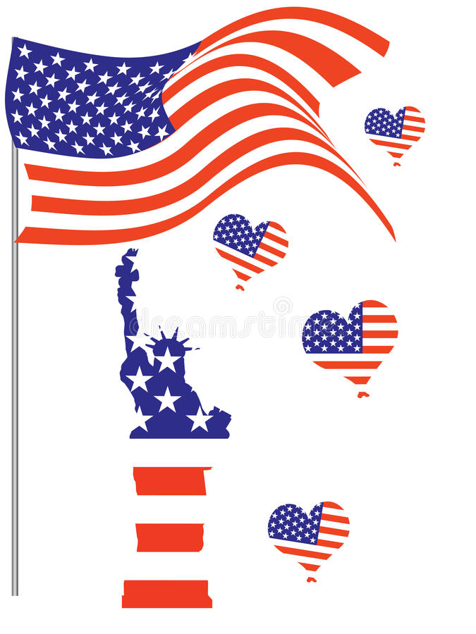 ô julho - Dia da Independência ilustração royalty free