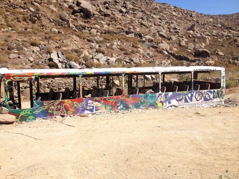 Ônibus abandonado fotos de stock