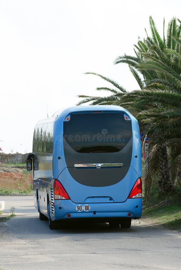 Ônibus azul Interurban. imagens de stock royalty free