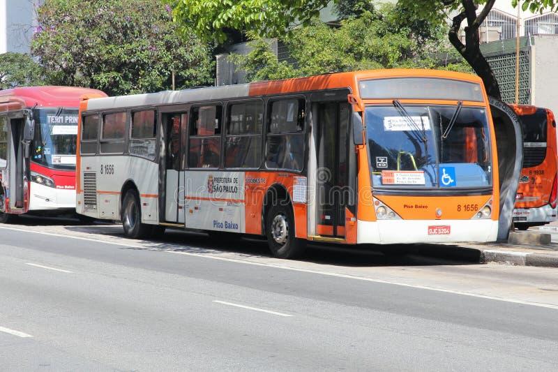Ônibus da cidade de Sao Paulo foto de stock