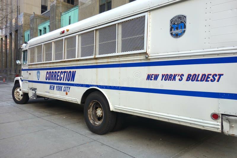 Ônibus da correção foto de stock