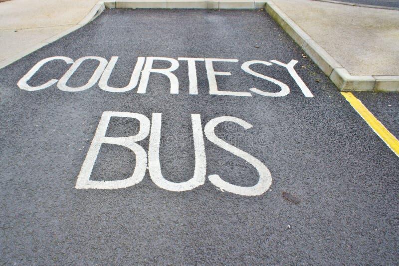 Ônibus da cortesia fotografia de stock