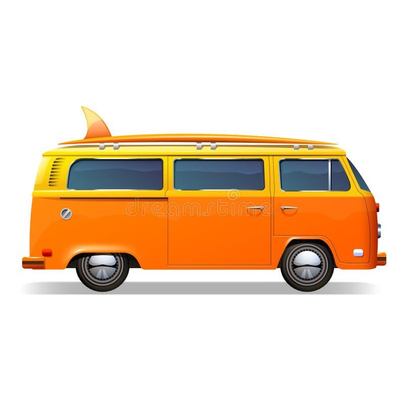Ônibus da ressaca realístico ilustração royalty free