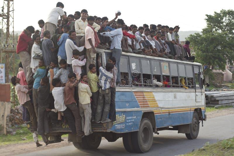 Ônibus da sobrecarga fotos de stock royalty free