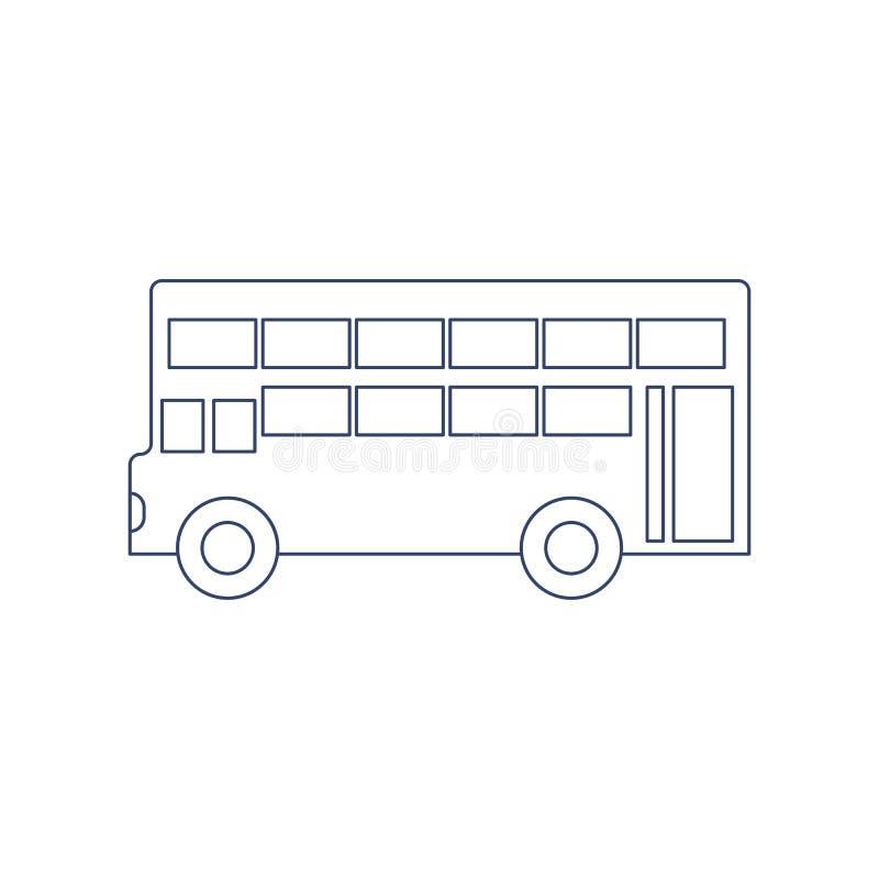 Ônibus de dois andares do vetor para colorir r ilustração do vetor