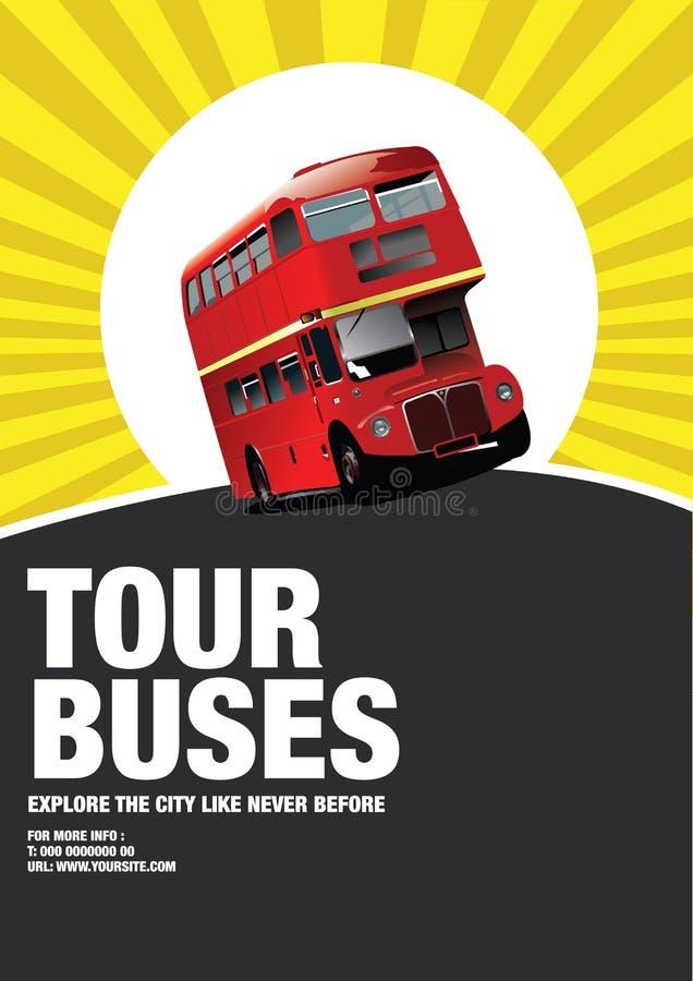 Ônibus de excursão ilustração stock