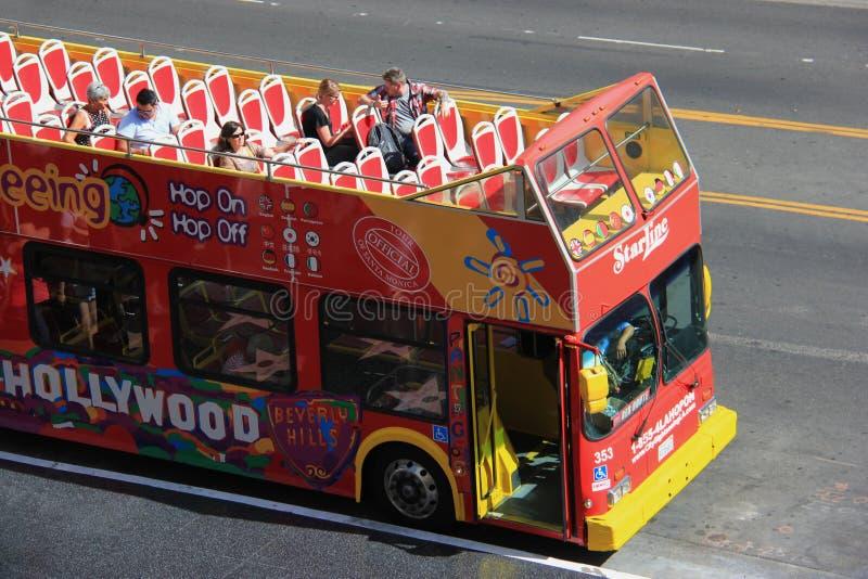 Ônibus de excursão de Hollywood foto de stock