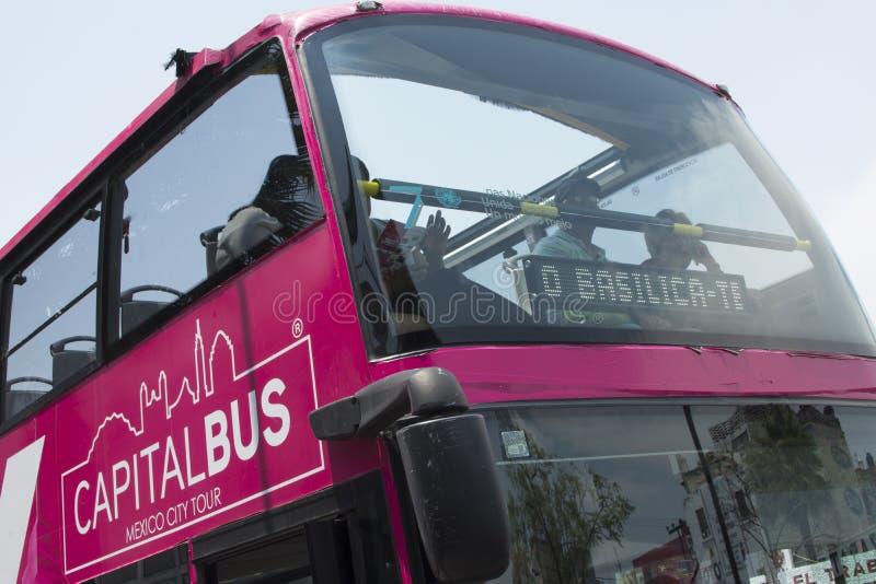 Ônibus de excursão principal Cidade do México foto de stock