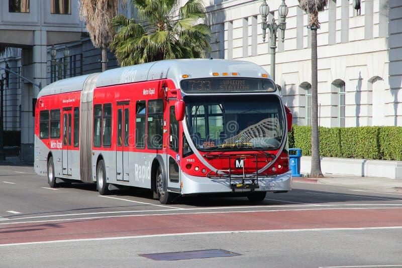Ônibus de Los Angeles fotografia de stock royalty free