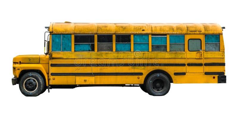 Ônibus de velha escola sujo imagens de stock royalty free
