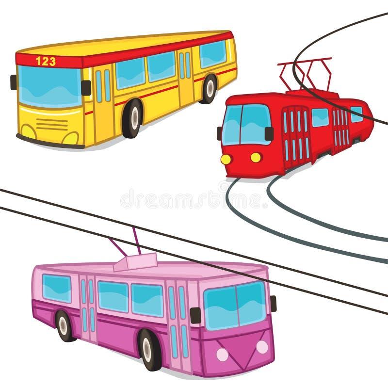 Ônibus do bonde do ônibus bonde isolado ilustração royalty free