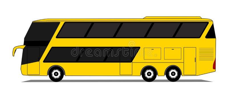 Ônibus dobro da plataforma ilustração do vetor