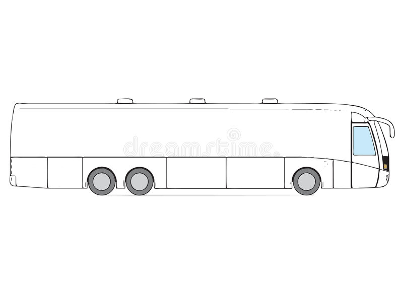 Ônibus luxuoso ilustração royalty free