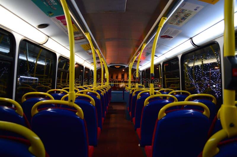 Ônibus vazio de Londres fotografia de stock
