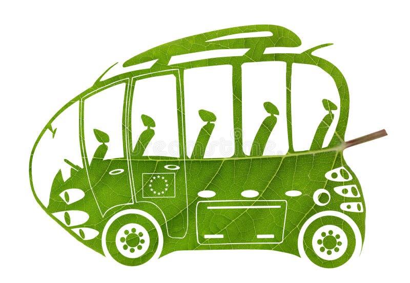 Ônibus verde do Euro ilustração royalty free