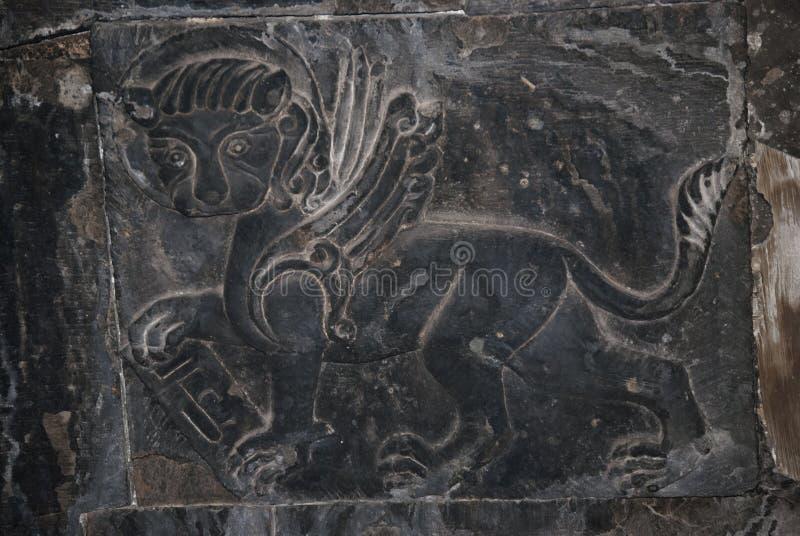 Õ•скульптура ld в часовне Surb Grigor комплекса Noravank в Армении стоковые изображения rf