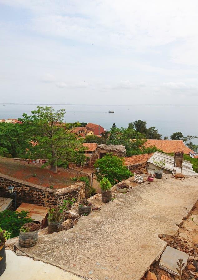 Ö av Gorée i Senegal royaltyfri fotografi