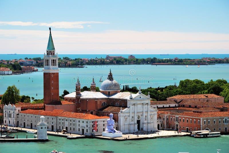 Ö av San Giorgio Maggiore i Venedig arkivfoto