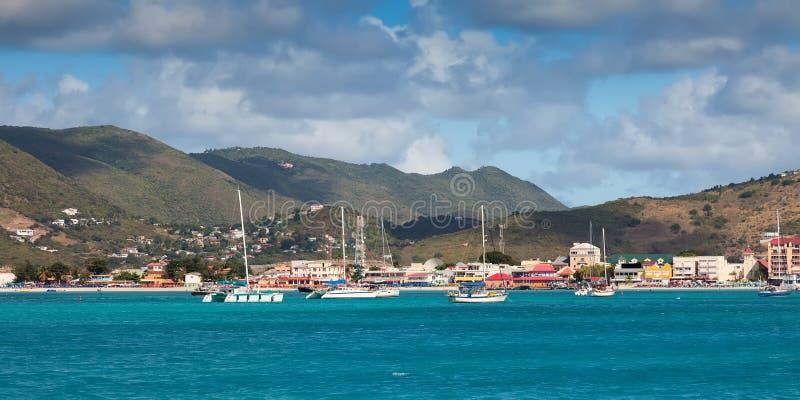 Ö av St Maarten fotografering för bildbyråer