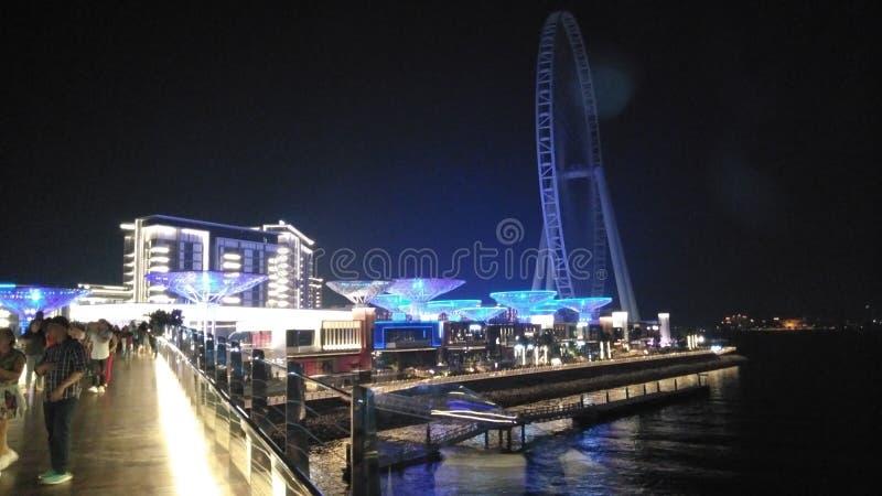 Ö Dubai för blått vatten arkivfoton