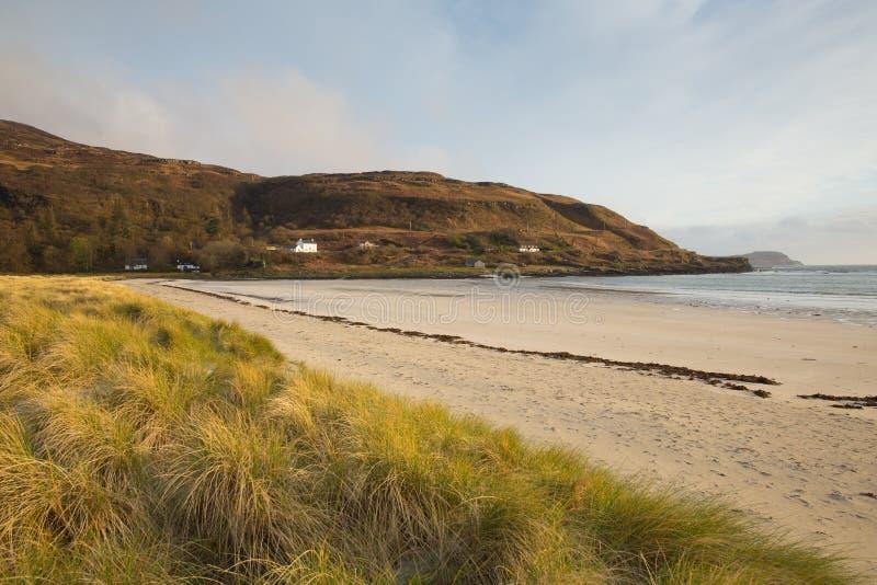 Ö för Calgary fjärdstrand av Mull Argyll och Bute Skottland UK skotska inre Hebrides royaltyfria bilder