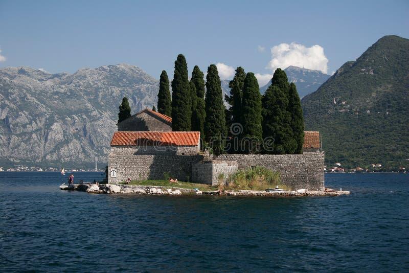 ö montenegro arkivfoton