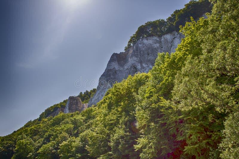 Ö Ruegen, kritakust, Tyskland royaltyfri fotografi