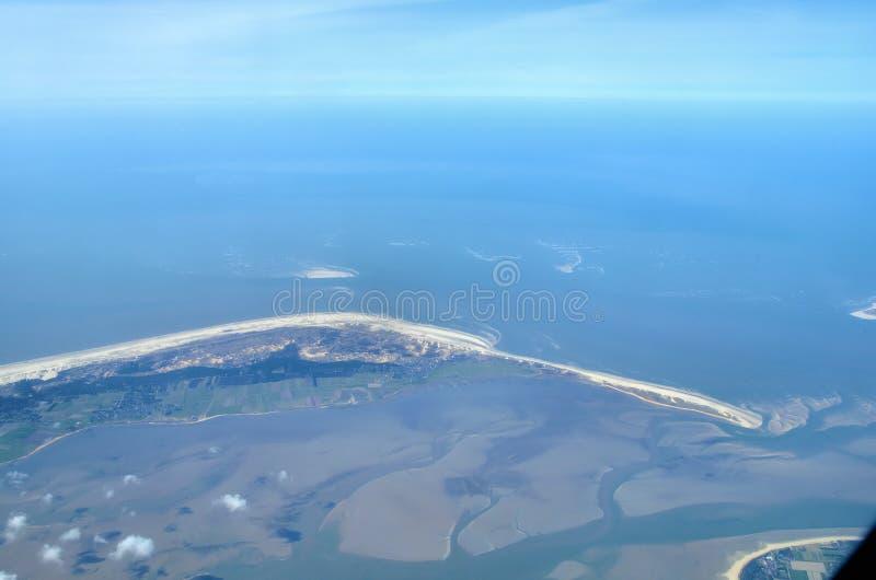 öar över havssikten wadden arkivbilder
