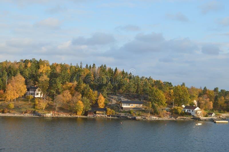Öar av Sverige i det baltiska havet royaltyfria bilder