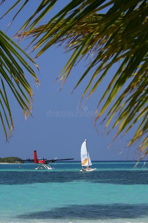 öar maldives arkivbild