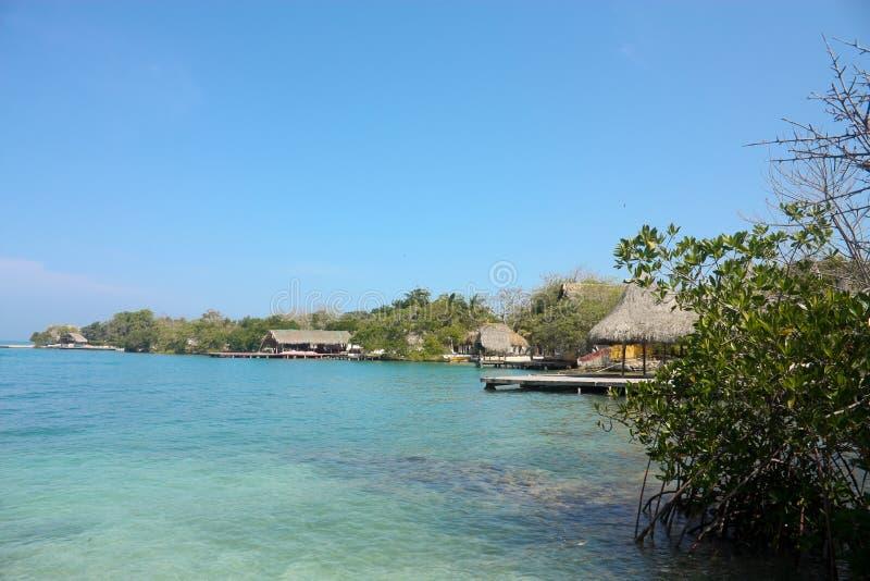 öar rosario för kustcolombia bild royaltyfria foton