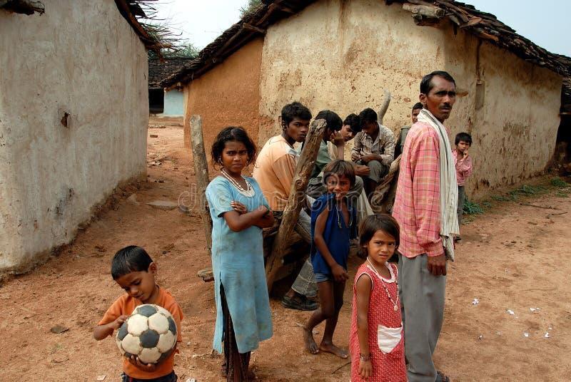 Öde av det Khajuraho folket arkivbilder