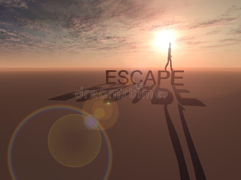 ödelägga escapeavstånd royaltyfri illustrationer