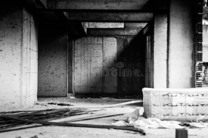 Ödelagd byggnadskonstruktion - Turkiet arkivfoto