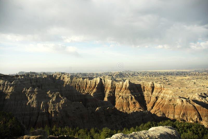 Ödländer South Dakota lizenzfreies stockfoto
