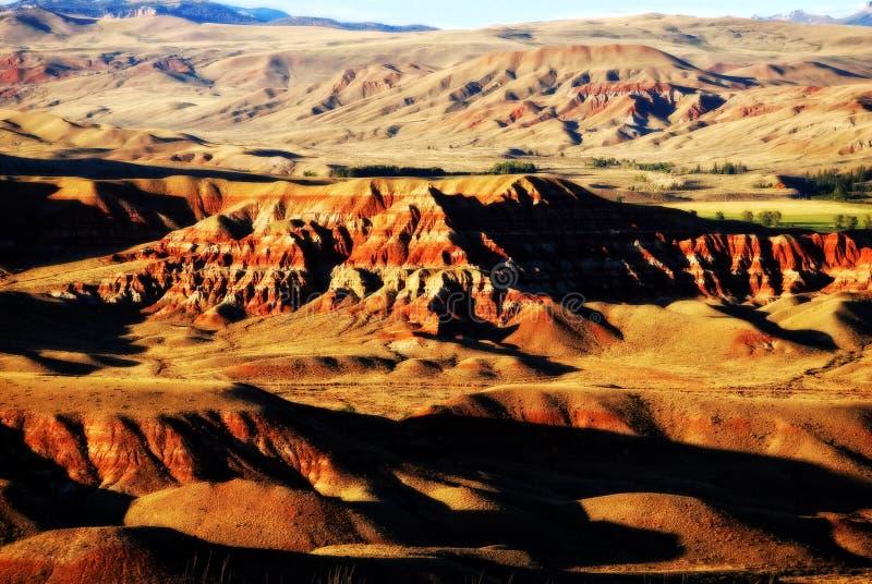Ödländer von West-Wyoming stockfotos