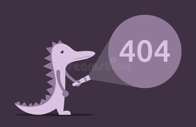 Ödla fackla, fel 404 vektor illustrationer