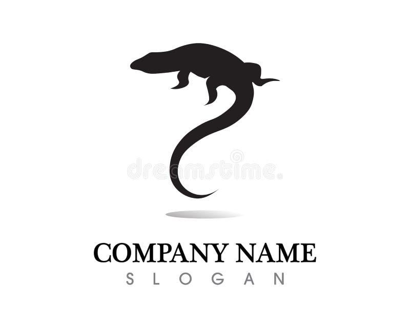 Ödlavektor, design, djur och reptil, gecko vektor illustrationer