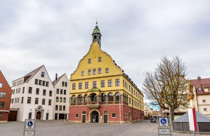 Öffentliche Bibliothek im Stadtzentrum von Ulm lizenzfreie stockfotos