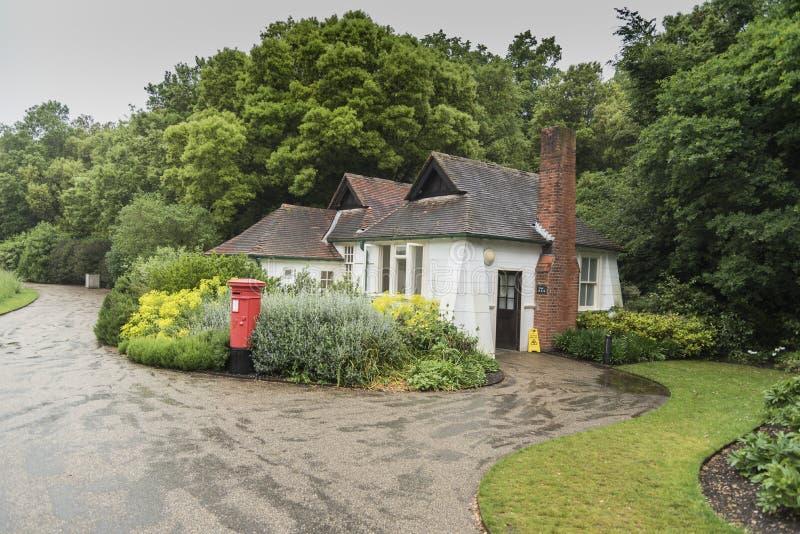 Öffentliche Toiletten an der Osborne-Haus-Insel von Wight stockfotos