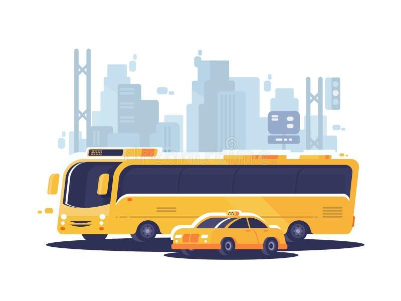 Öffentliche Transportmittel der Stadt lizenzfreie abbildung