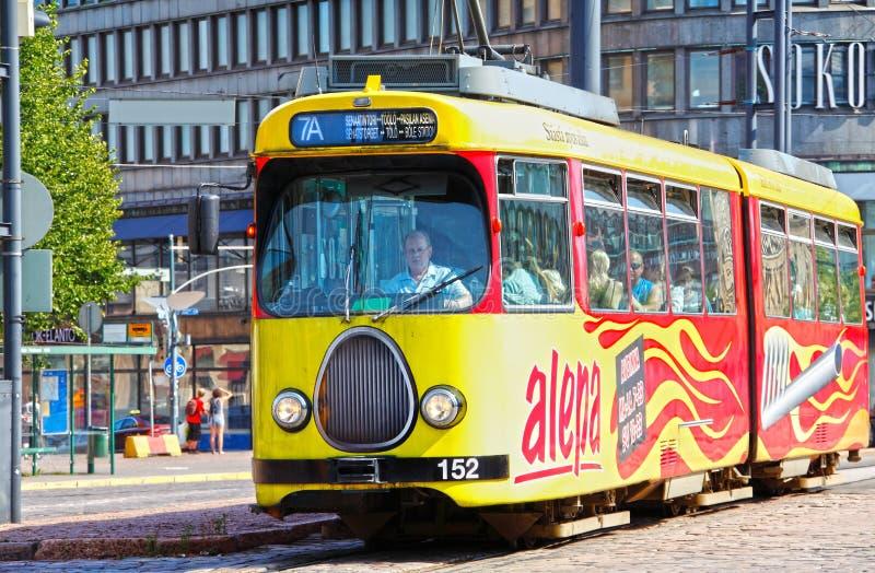 Öffentliche Transportmittel Helsinki-Förderwagen lizenzfreies stockbild