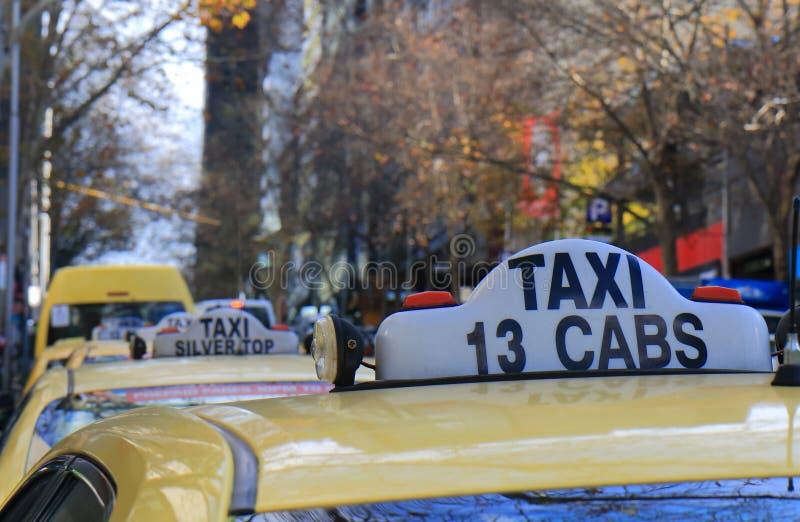 Öffentliche Transportmittel Melbourne Australien des Taxis lizenzfreie stockbilder