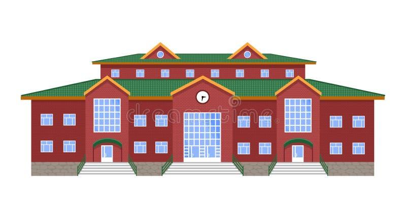 Öffentliches Gebäude, Bildungseinrichtungsbibliothek, Schule, College, Institut, Akademie, Universität, Bank, Palast vektor abbildung