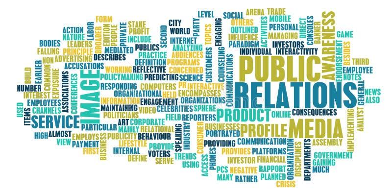 Öffentlichkeitsarbeiten lizenzfreie abbildung