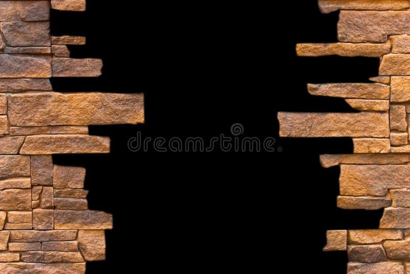 Öffnen in einer Backsteinmauer stockfoto