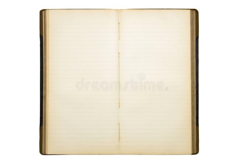 Öffnen Sie altes unbelegtes Tagebuch stockbilder